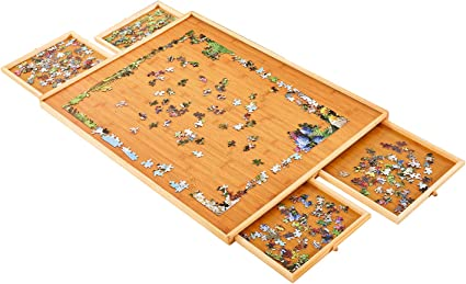 Jigsaw Puzzle Table Weight: 2.0 LBS-5 KGS Puzzle Table Puzzle Board Puzzle Tray Jumbo Size: 34/×26 for Maximum 1500 Pieces Puzzles Puzzle Boards and Storage Puzzle Tables for Adults