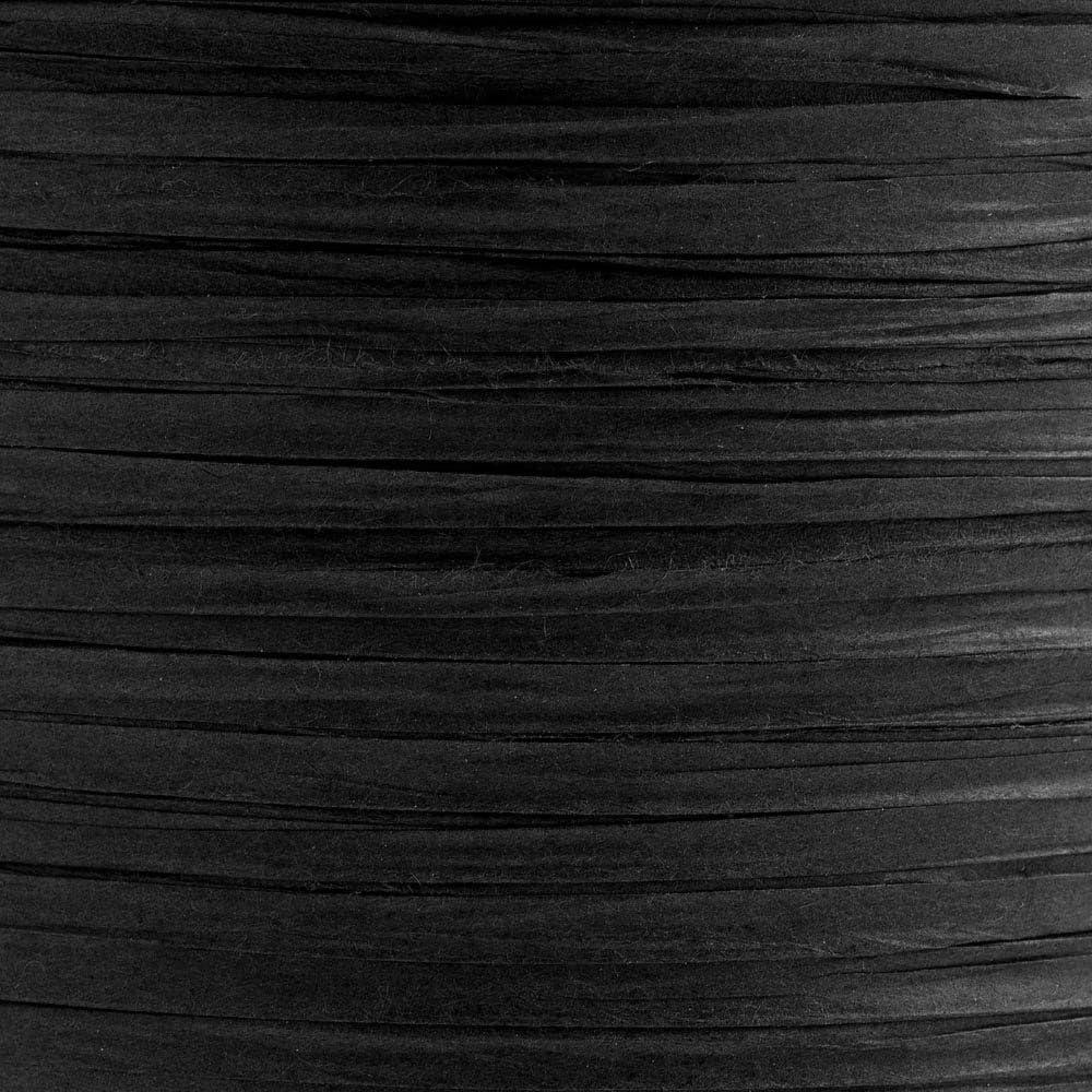Paper Raffia Ribbon 7mm x 100 Metres Black