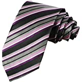 KissTies - Corbata de satén, color puro, corbatas para hombre + caja de regalo