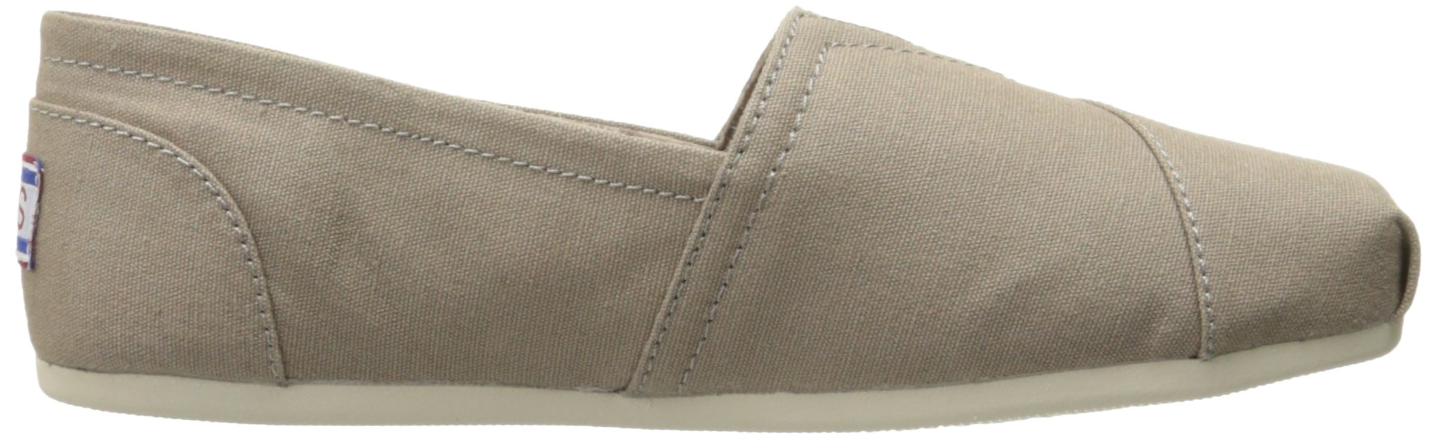 Skechers BOBS Women's Plush-Peace and Love Flat, Taupe, 8.5 W US by Skechers (Image #7)