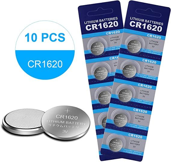 CR1620 3V Batteries Button Coin Lithium Watch Battery Key Fob (10 Pack)