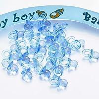 Kingsley 100pcs Mini Sucettes D/écorations pour Bapt/ême Douche de B/éb/é Rose