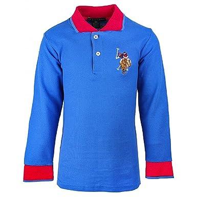 4f4b5f3b U.S.POLO ASSN. Boys US Polo USPA Embroidery Long Sleeve Cotton Polo T- Shirt  Casual Top.3-12yrs