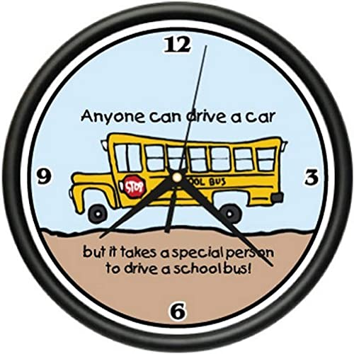 SignMission School Bus Driver Wall Clock Student Teacher New Gift, Beagle Dog pet Dogs Puppy Breeder, 1SCHOOL