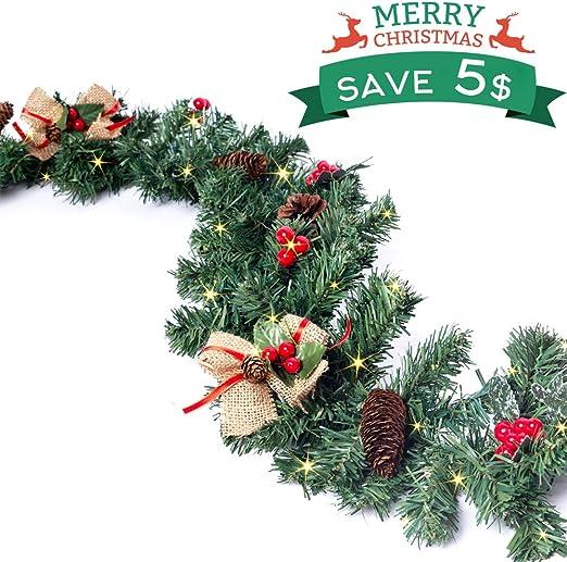 Amazon Com Christmas Garland With Light Christmas Wreaths
