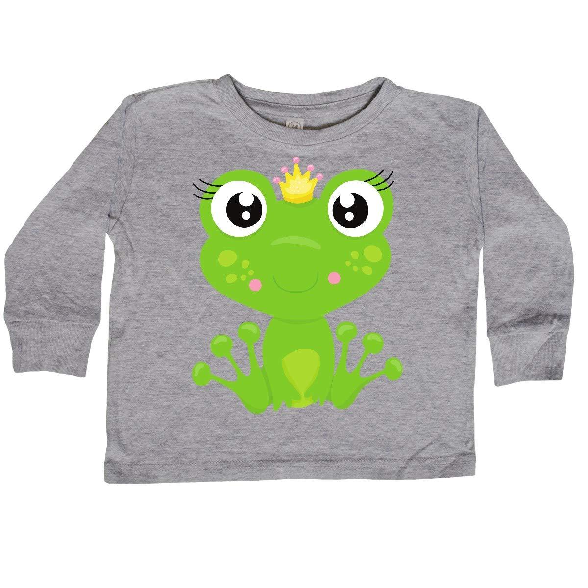 inktastic Frog Princess Girl Frog Frog Wearing a Toddler Long Sleeve T-Shirt