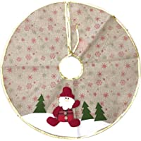 Saia para Árvore de Natal Decorada Rústica Papai Noel 60cm
