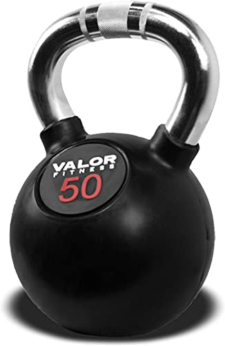 Valor Fitness CKB Rubber Coated Kettlebell Weight