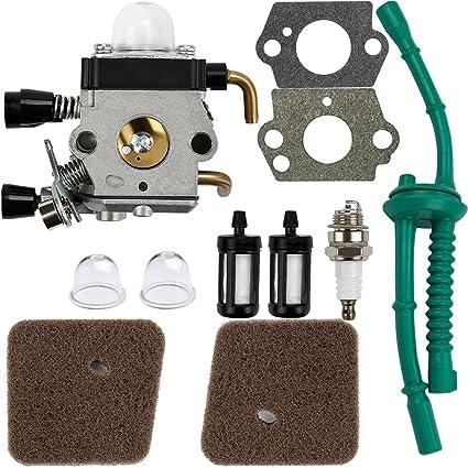 Carburetor Air Fuel filter Carb Gaskets For STIHL FS55 FS55C FS55R FS55RC FS55T