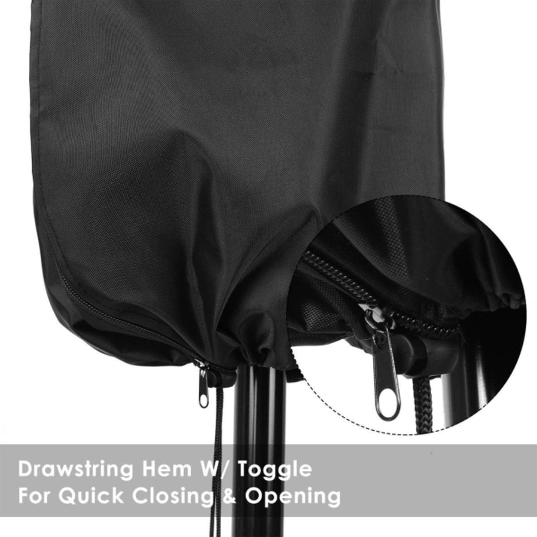 Garden Umbrella Cover Waterproof Anti-UV Tear Resistant Oxford Cloth 60//50cm) 40 Black Breathable Outdoor Patio (205 PTN Protective Parasol Cover