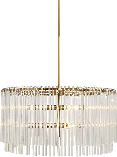 Vienne 25″ Round Brushed Gold Chandelier