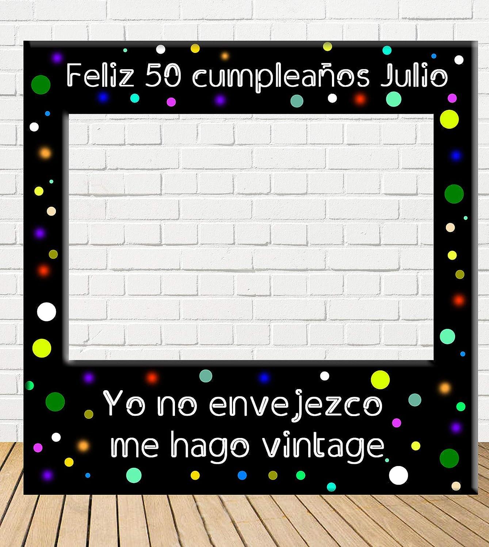 Tu Fiesta Mola Mazo Photocall de cumpleaños 100x100cm| Divertido y económico|Detalle de cumpleaños| Hazte Unas Fotos Divertidas de cumpleaños| ...