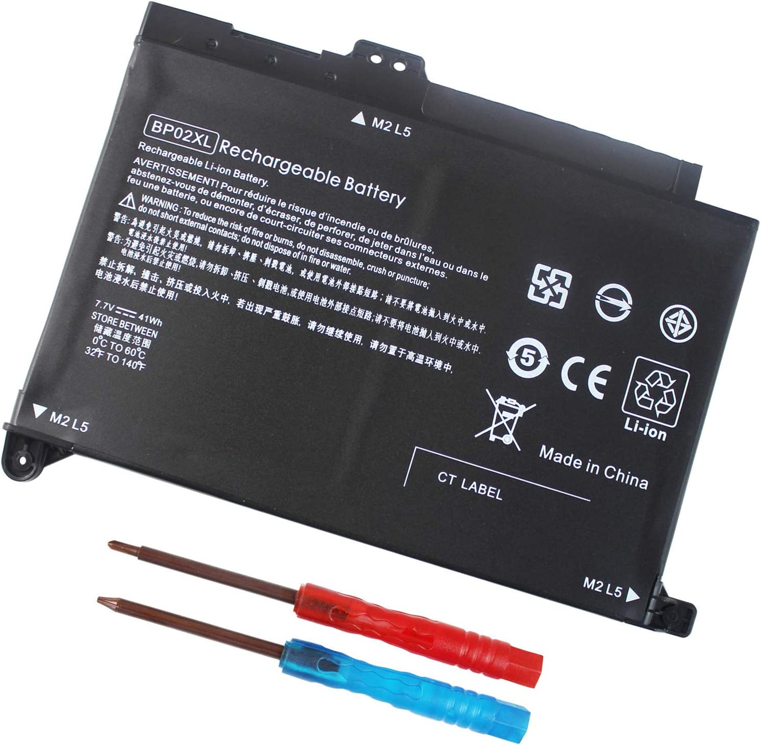 BP02XL 849909-850 Battery for HP Pavilion 15-AU000 15-AW000 15T-AW000 Series 15-AU063CL 15-AU091NR 15-AU010WM 15- AU123CL 15-AW068NR 849569-421 849909-855 849569-542 - 12 Months Warranty