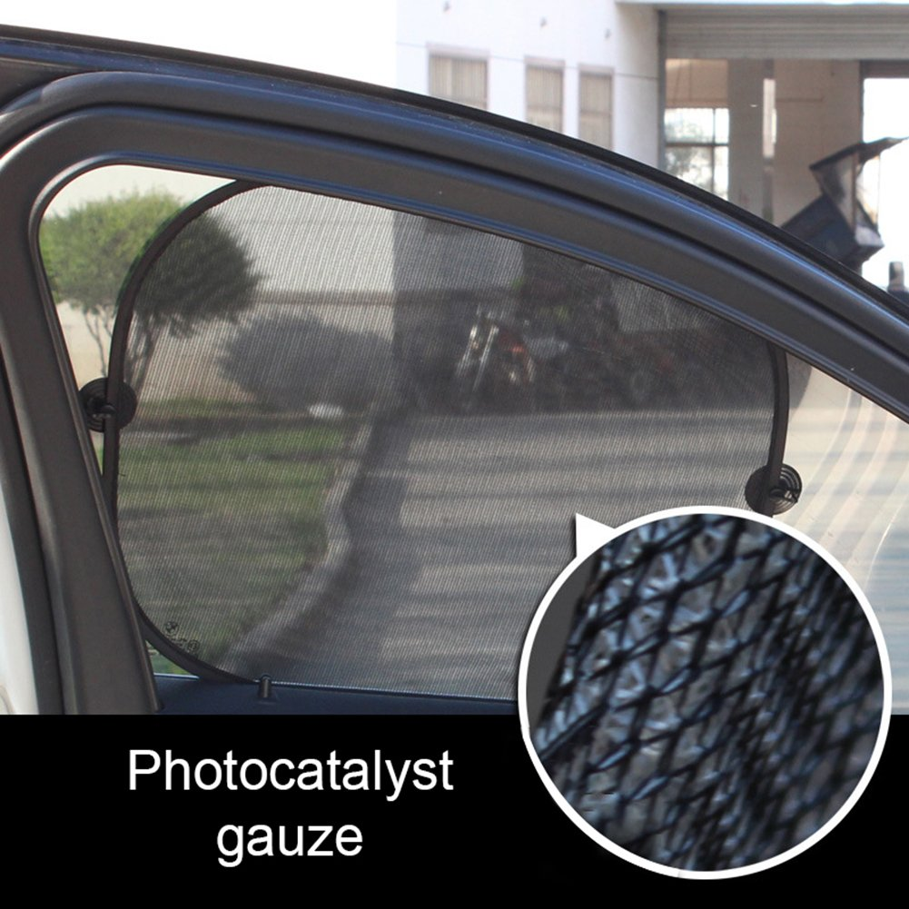 Gaweb Car Sun Shade Car Side Rear Window Screen Sunshade Windshield UV Protection Mesh Cover Visor by Gaweb (Image #9)