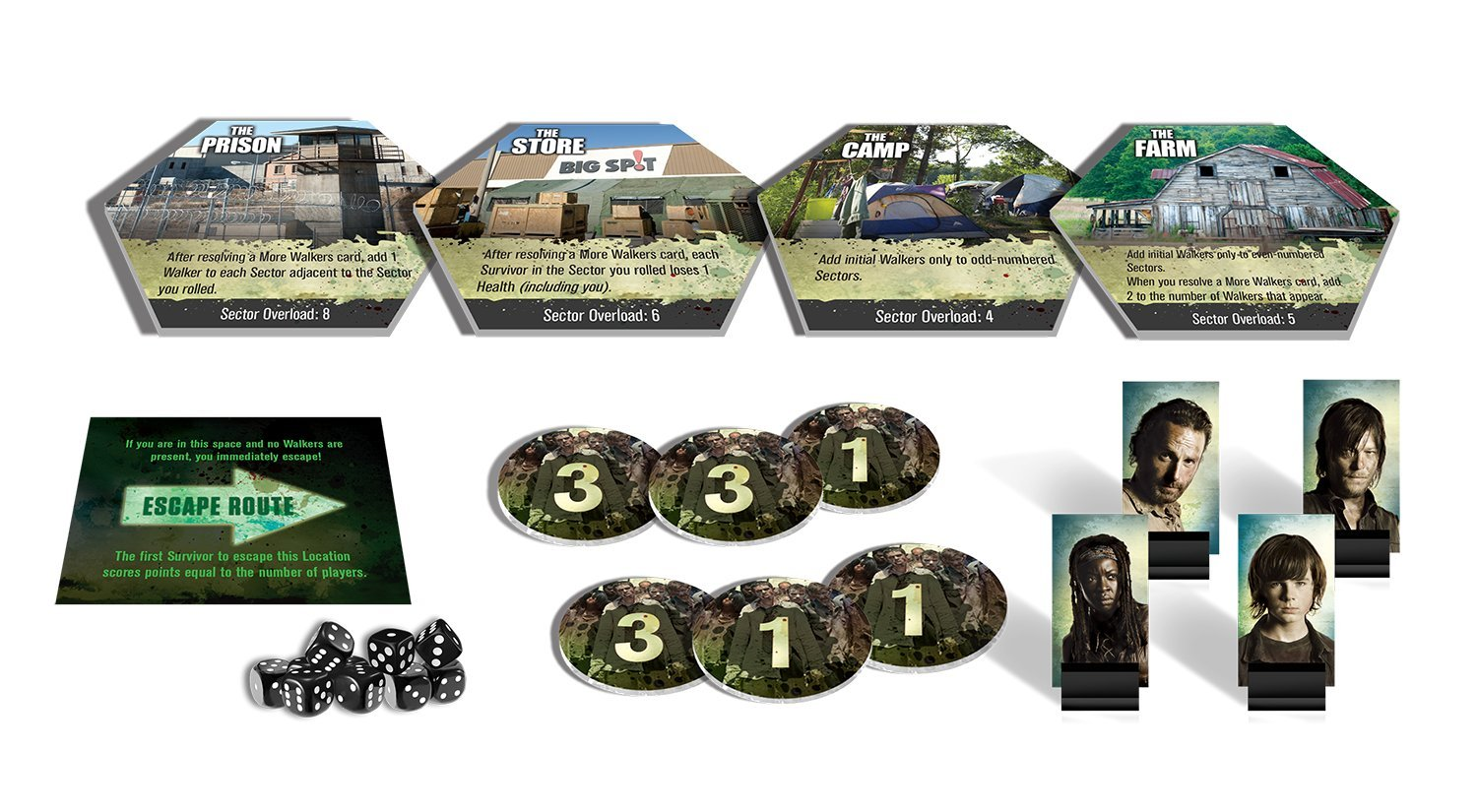 Board Games Games//Puzzles Don/'t Look Back Rejects from Studios 83459CZE Board Games Games /& Activities Dont Look Back Walking Dead Dice Game Walking Dead Dice Game
