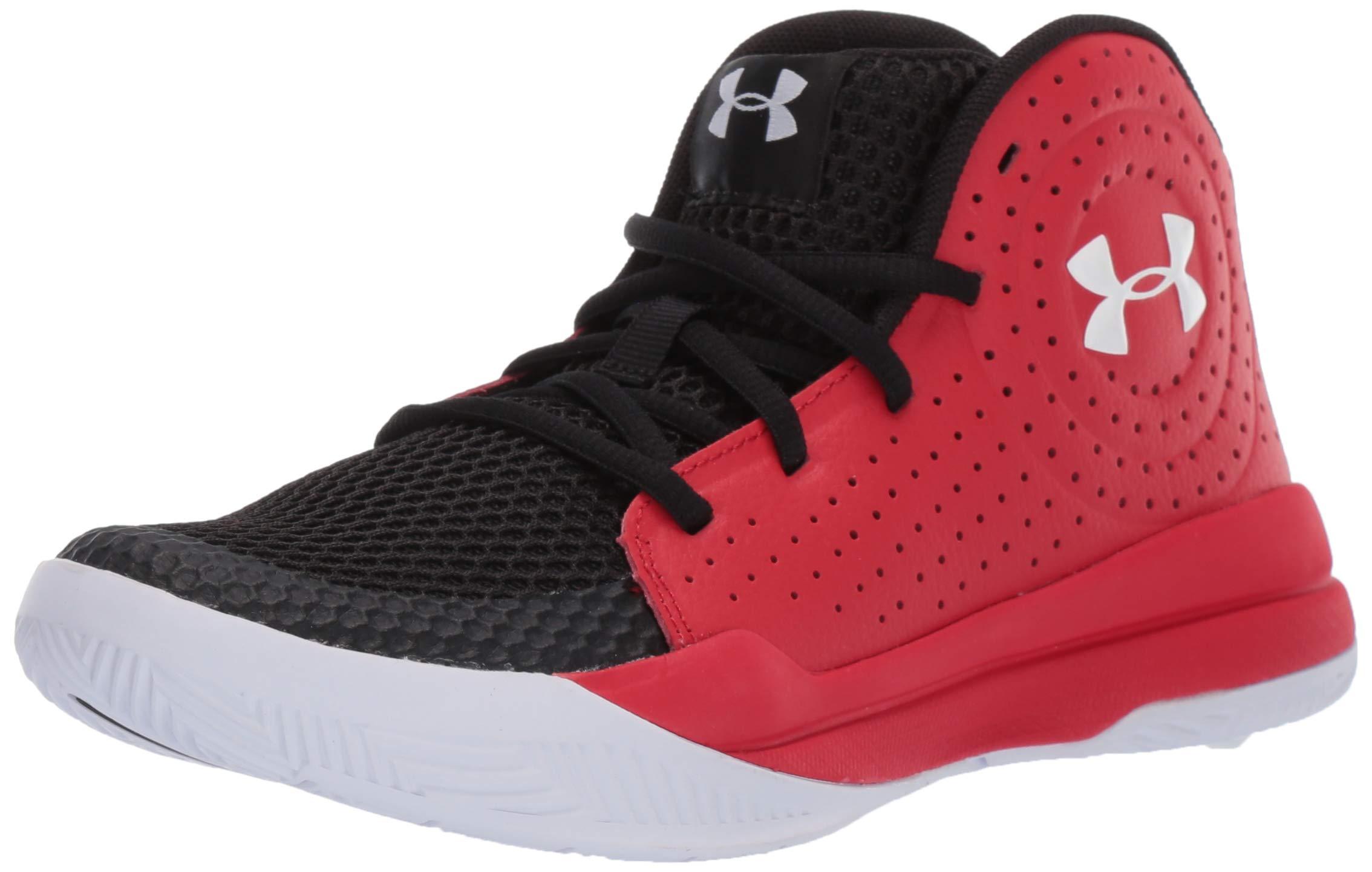 Under Armour Unisex Pre School Jet 2019 Basketball Shoe, Red (601)/Black, 4.5 M US Big Kid