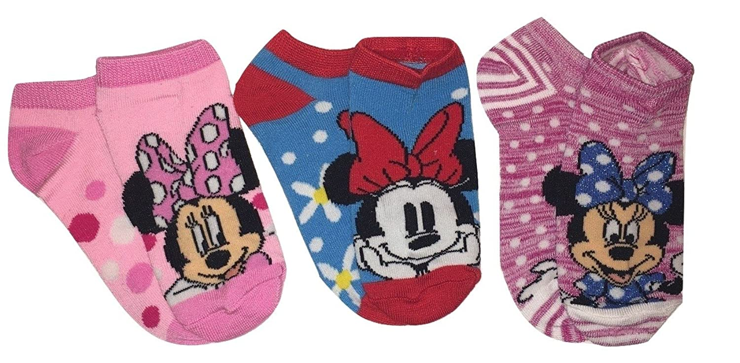 Amazon.com: Disney Minnie Mouse Childrens Socks - 3 Pack - Size 6-8: Clothing
