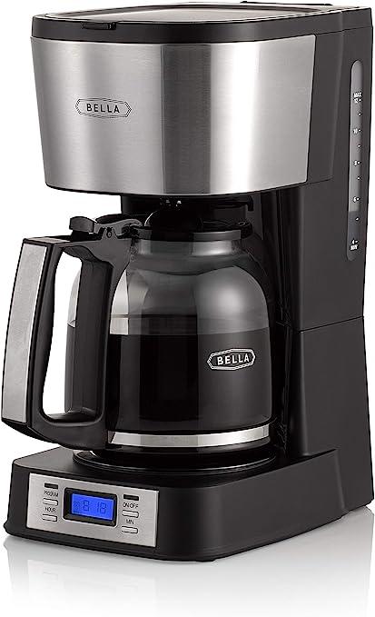Amazon.com: BELLA 14755 - Cafetera (12 tazas, acero ...