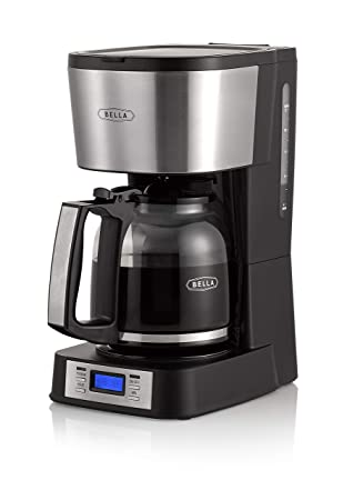 BELLA 14755 12 Coffee Maker with Brew Strength Selector Single Cup Feature, Stainless Steel