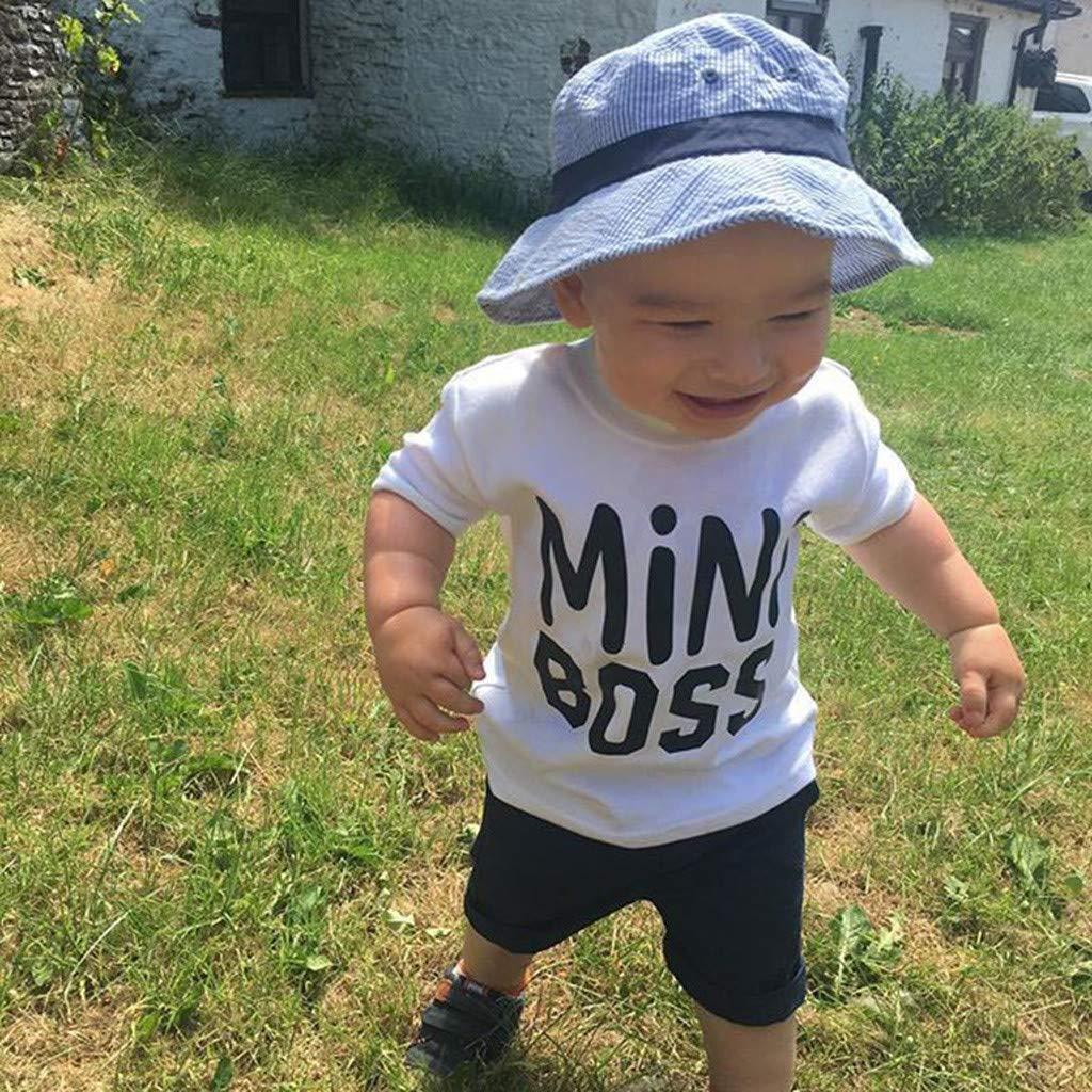 Kleinkind Kinder Baby Jungen Kurzarm Brief Druck T-Shirt Tops Bluse Tee Kurzarm T-Shirt Sport Bluse Tee Shirt HEETEY Kinder T-Shirt Sommer Oberteile