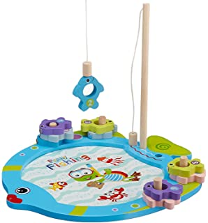 Montessori Toys Letters Cognition Preschool Gift for 3 4 6 Years Old Girl Boy teytoy My First Magnetic Wooden Fishing Game Toy ABC Alphabet Color Sorting Puzzle Catching Counting Fish Board Games