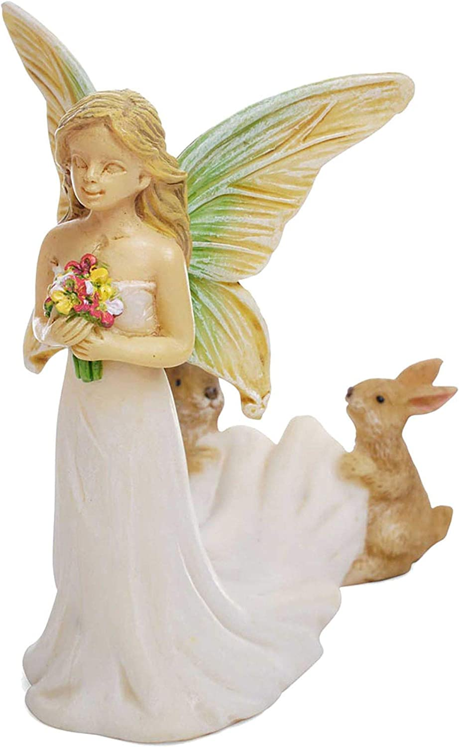 Fairy Bride Wedding Dress Bridal White 4 Inch Resin Stone Outdoor Statue