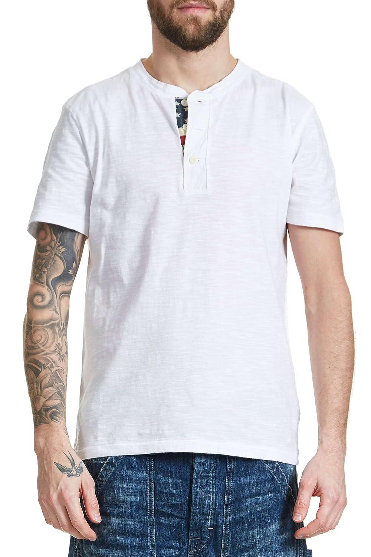 ab858bf8 Amazon.com: DENIM & SUPPLY by RALPH LAUREN - Denim and Supply by Ralph  Lauren Men's Short Sleeve T-Shirt Top Flag Placket Henley - XL, White:  Clothing