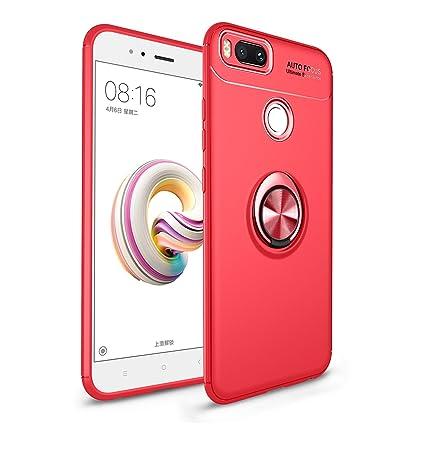 Funda Xiaomi Mi A1, Carcasa Mi A1, RosyHeart Negro Fibra de ...