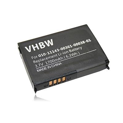 vhbw Li-Ion Batería 1700mAh (3.7V) para navegador GPS Garmin Zumo 210, 210 CE, 220, 600, 650, 660, 660LM, 665, 665LM