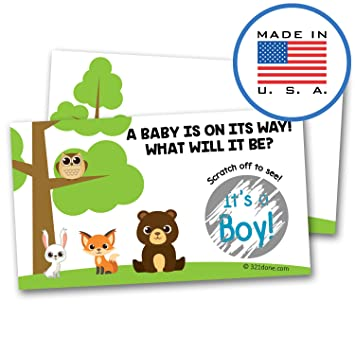 321Done Gender Reveal Scratch Off Cards For Baby Announcement