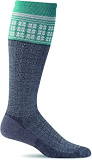 product image for Sockwell Women's T Ceremony Graduated Compression Socks (Charcoal, Small/Medium)