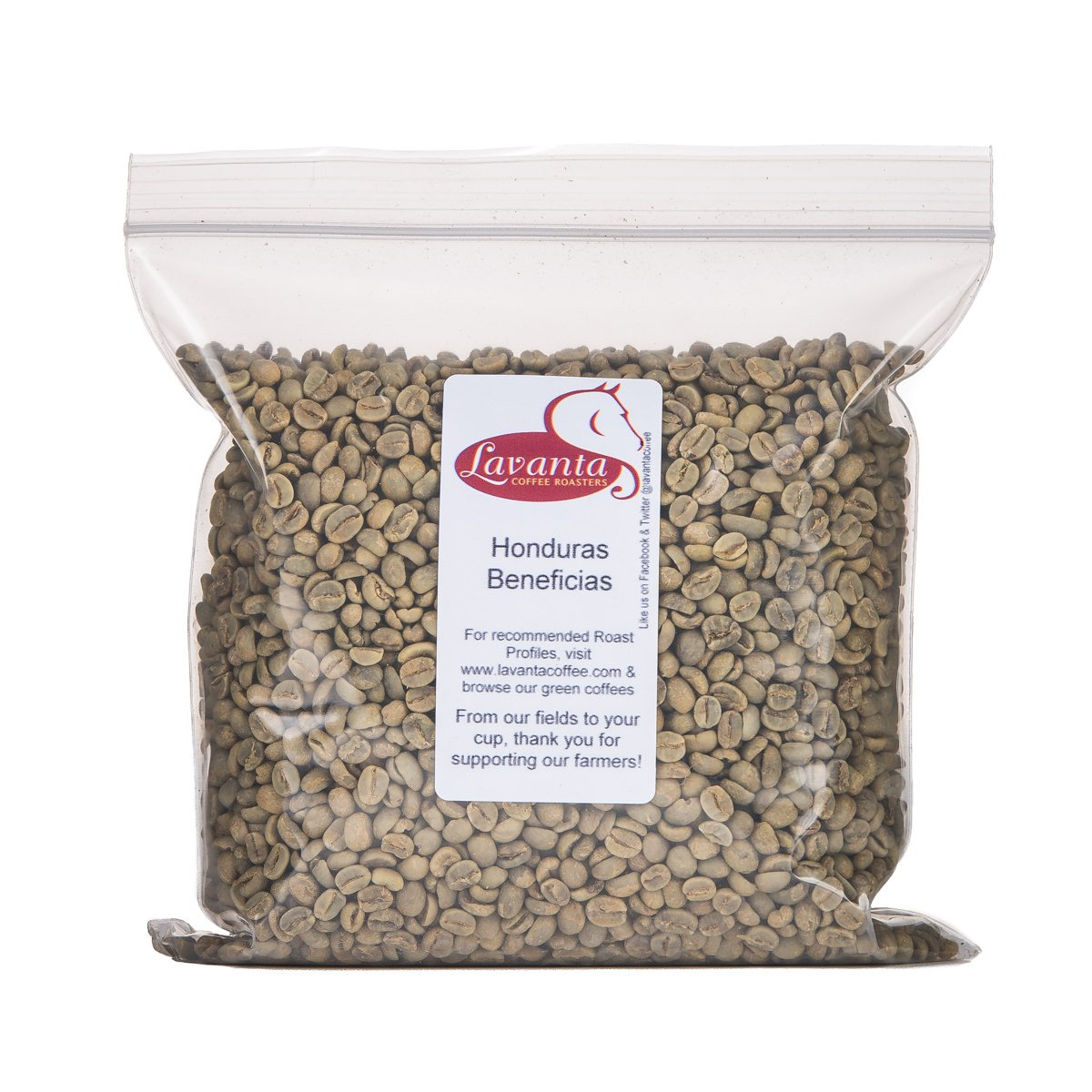 Lavanta Coffee Roasters Honduras Beneficia Santa Rosa SHG EP Green Direct Trade Coffee, 2lb