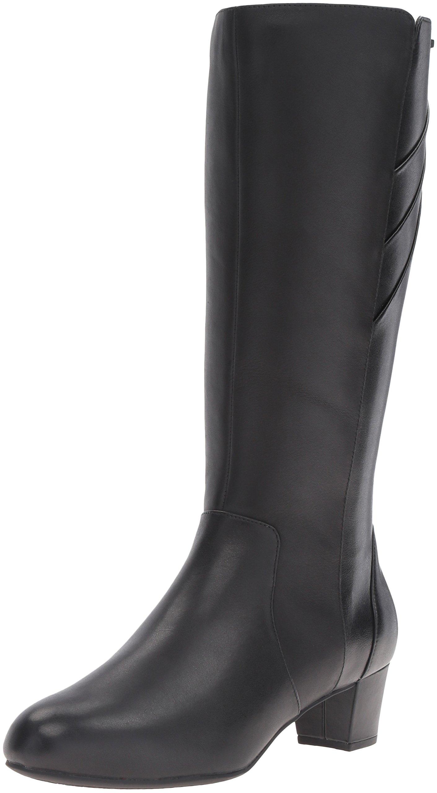 Rockport Women's Total Motion Cresenthia Riding Boot, Black Waterproof, 8 M (B)