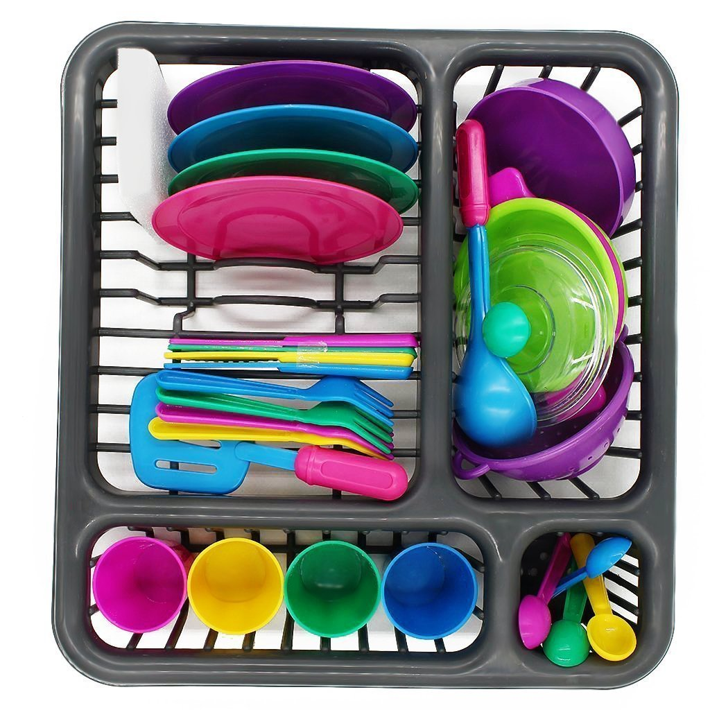 Childrens Durable Kitchen Toys Tableware Dishes Play set (27 Pcs)