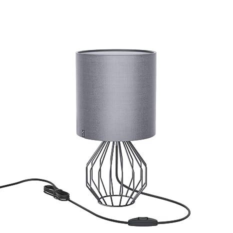Cromo Lámpara Con Modernos De Cesta Estilo Un Mesa Toque Jaula Minimalista Plata EscritorioMesilla PlásticoAglaia Metal ukZPOXi