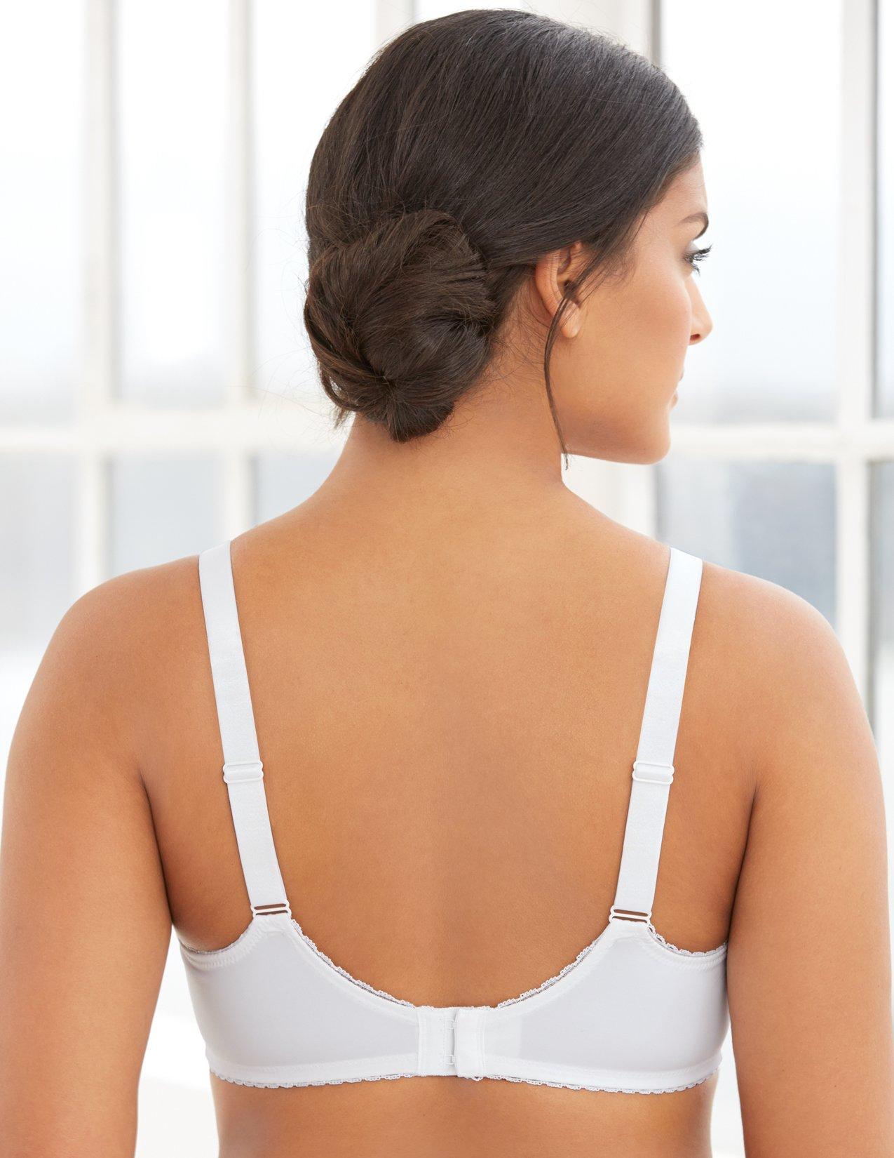1521f4b875 Glamorise Women s Full Figure Wonderwire Lace Bra  9845 - 9845   Everyday  Bras   Clothing