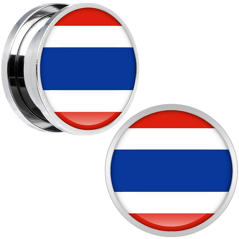 Cuerpo Caramelo Acero Inoxidable Tailandia Bandera Ajuste ...