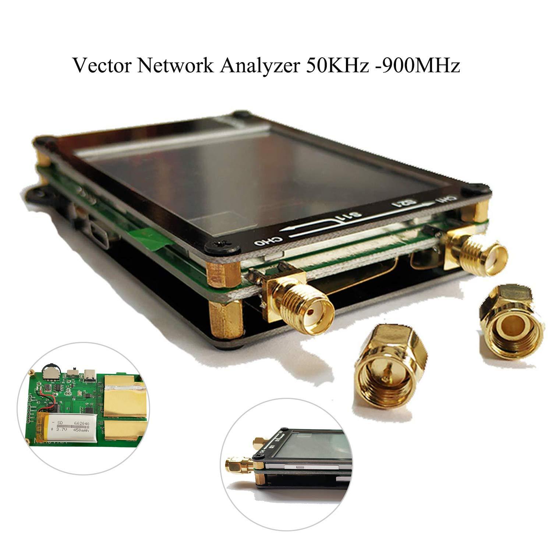 50KHz-900MHz Vector Network Analyzer Kit MF HF VHF UHF Antenna Analyzer with Digital LCD Display Touching Screen