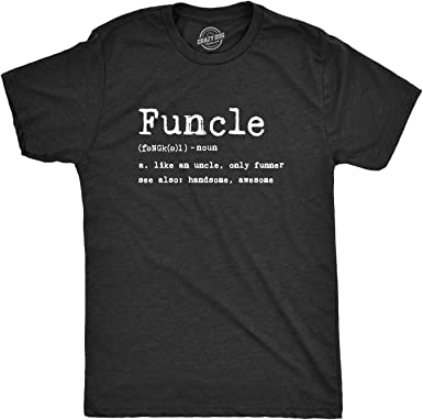 Funcle Mens T Shirt Funny Uncle Gift Birthday Christmas Novelty Joke