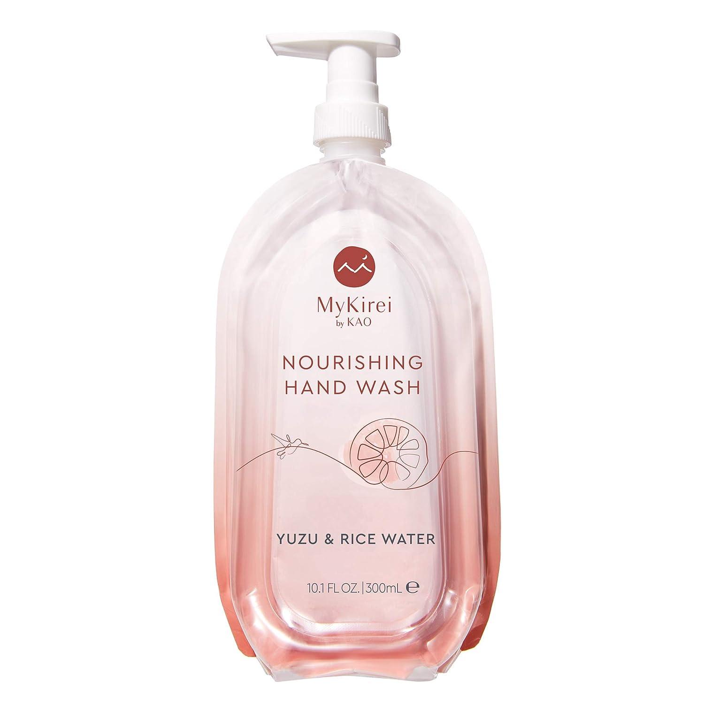 MyKirei by KAO Liquid Hand Soap with Moisturizing Yuzu & Rice Water, Gentle for Sensitive, Eczema-prone Skin 10.1 Fl Oz