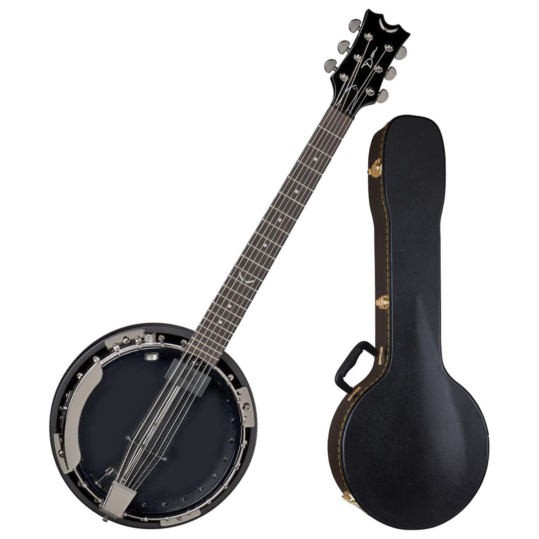 Dean BW6E BC Backwoods 6 String Acoustic Electric Banjo w/ Case Dean Guitars BW6E BC BUNDLE