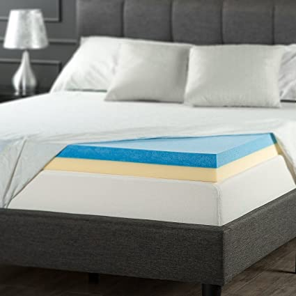 Amazon Com Sleep Master 4 Dual Support Gel Memory Foam Topper