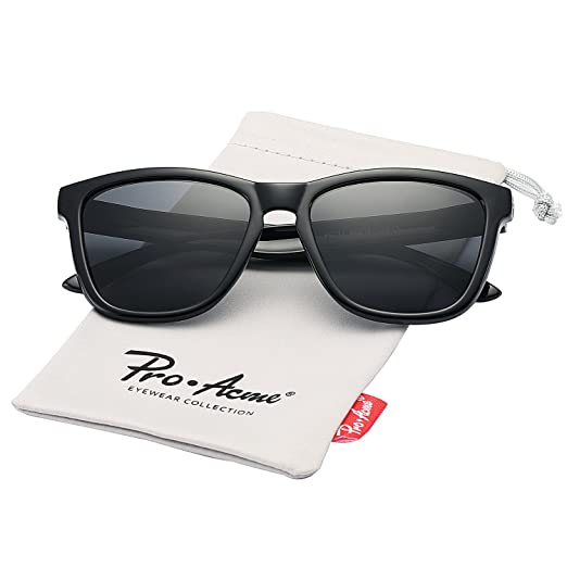 fe05b6921af23 Pro Acme Unisex Polarized Sunglasses 80 S Retro Classic Stylish Sun Glasses  (Black)