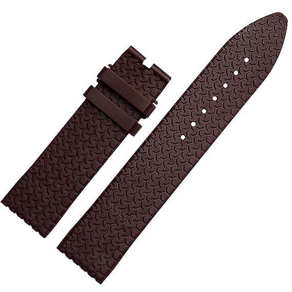 Nuevo 23 mm marrón correa de reloj de goma de silicona banda Compatible con Mille Miglia Cronógrafo: Amazon.es: Relojes