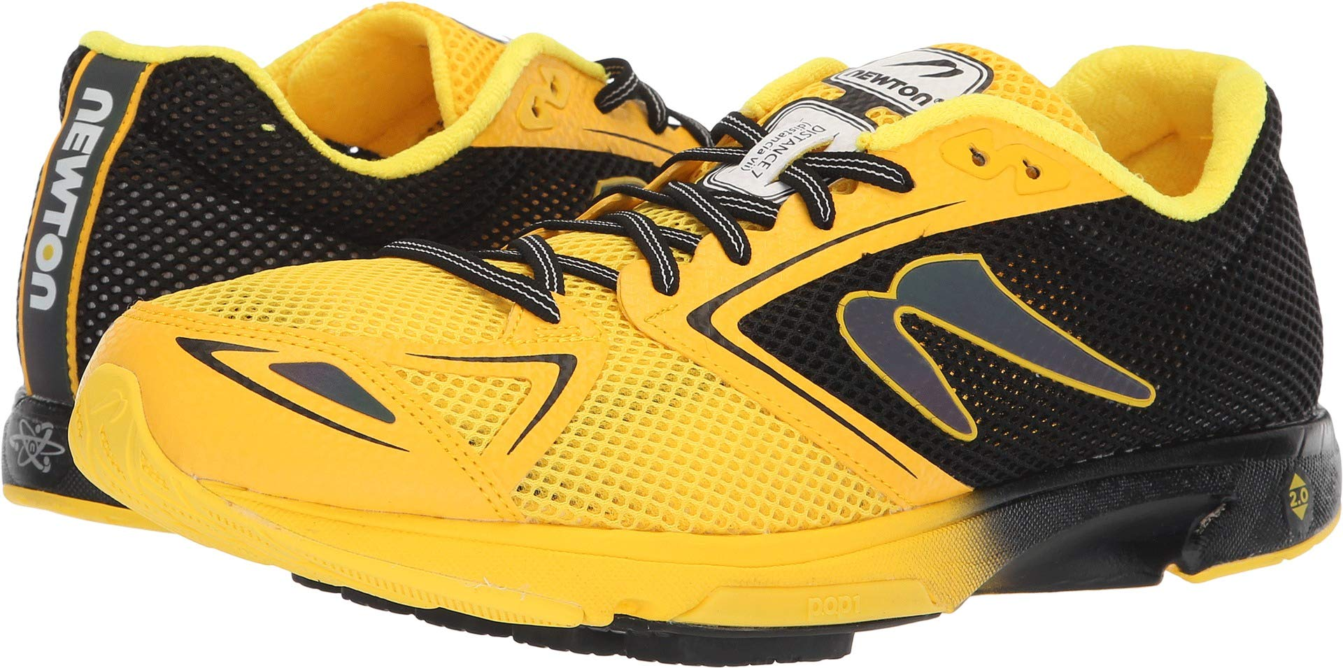 13e2f9432d1 Galleon - Newton Running Men s Distance 7 Black Yellow 9.5 D US D (M)