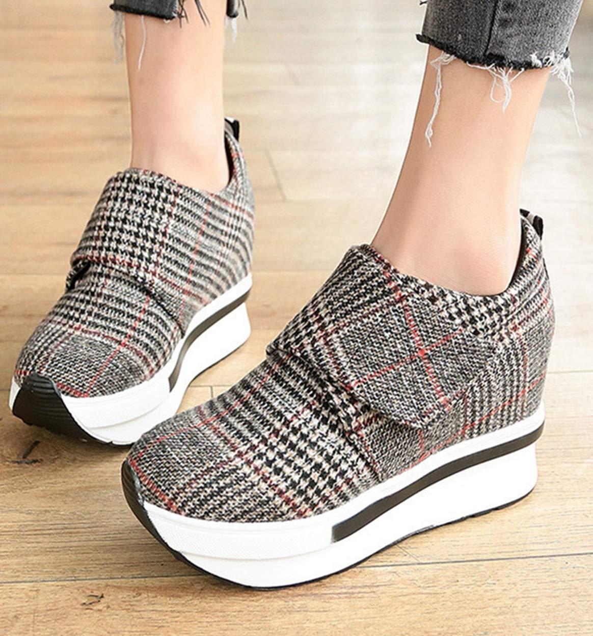 NEW Casual Women/'s High Heels Platform Hidden Wedge Ankle Sneakers Walking Shoes