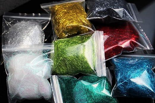 Tigofly 12 Farben Ice Dubing Box Ice Dub Fl/ügel K/örper Forelle Nymphe Fliegenfischen Bindematerial