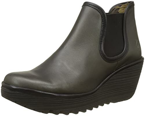 Yat, Botas para Mujer, Gris (Anthracite Black), 37 EU FLY London