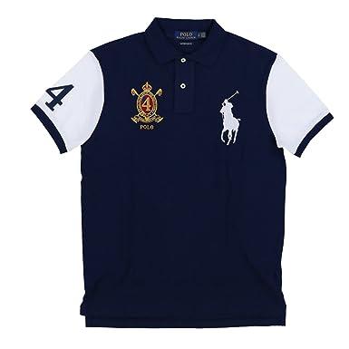 Polo Ralph Lauren Men\u0027s Big Pony Crest Custom Slim Fit Mesh Polo Shirt at  Amazon Men\u0027s Clothing store: