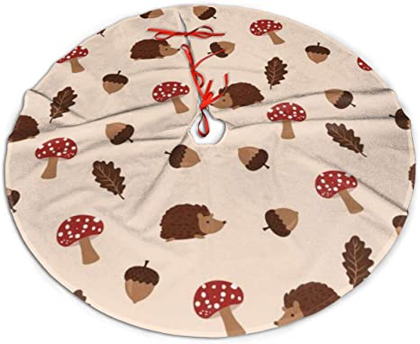 Hedgehog Christmas Ornament 2021 Amazon Com Christmas Tree Skirt Mushroom And Hedgehog Rustic Or Stylish Xmas Tree Holiday Decorations Ornaments For 2021 New Year Home Kitchen